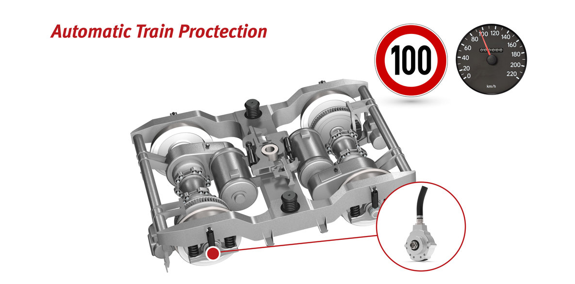 Axle encoders and speed sensors for automatic train protection